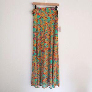 LuLaRoe Bright Tropical Maxi Skirt NWT XL